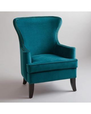 Cost Plus World Market Pacific Blue Elliott Wingback Chair - World Market from Cost Plus World Market | BHG.com Shop
