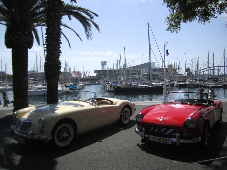 Old, very cool looking cars in Barcelona.