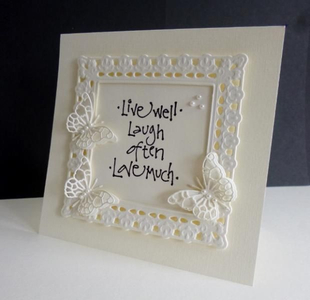 FS433 ~ Just Live! by sistersandie - Cards and Paper Crafts at Splitcoaststampers: