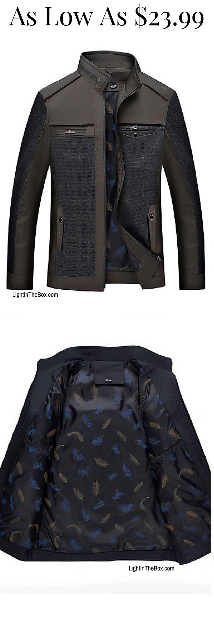 Trendy stylish sophisticated men jacket! A true gem for just $23.99.  Click on the picture to shop!