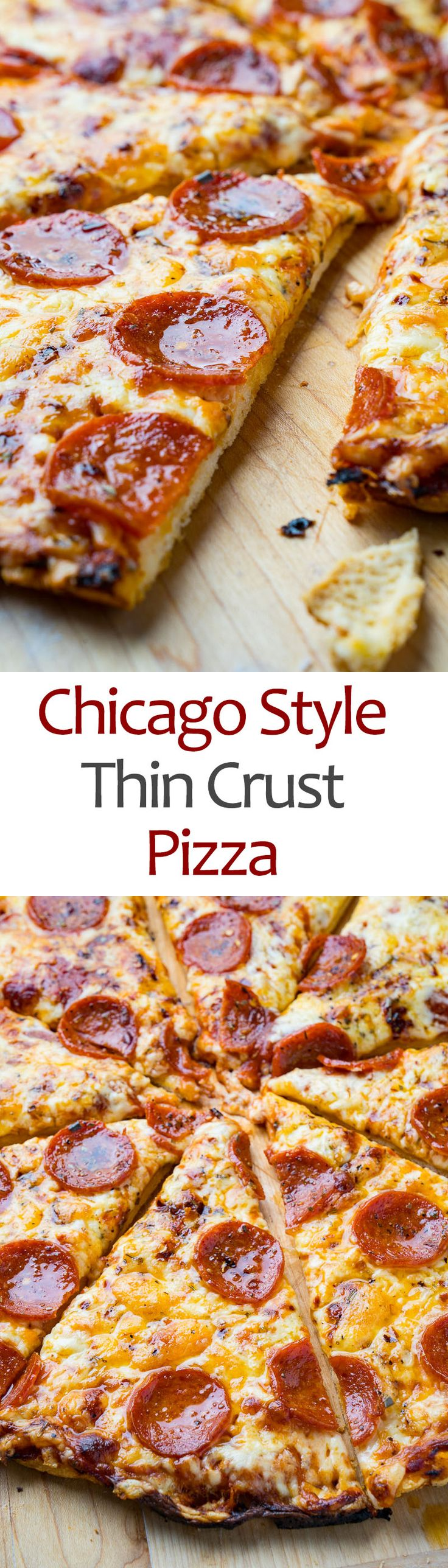 Chicago Style Thin Crust Pizza Recipe Thin crust pizza