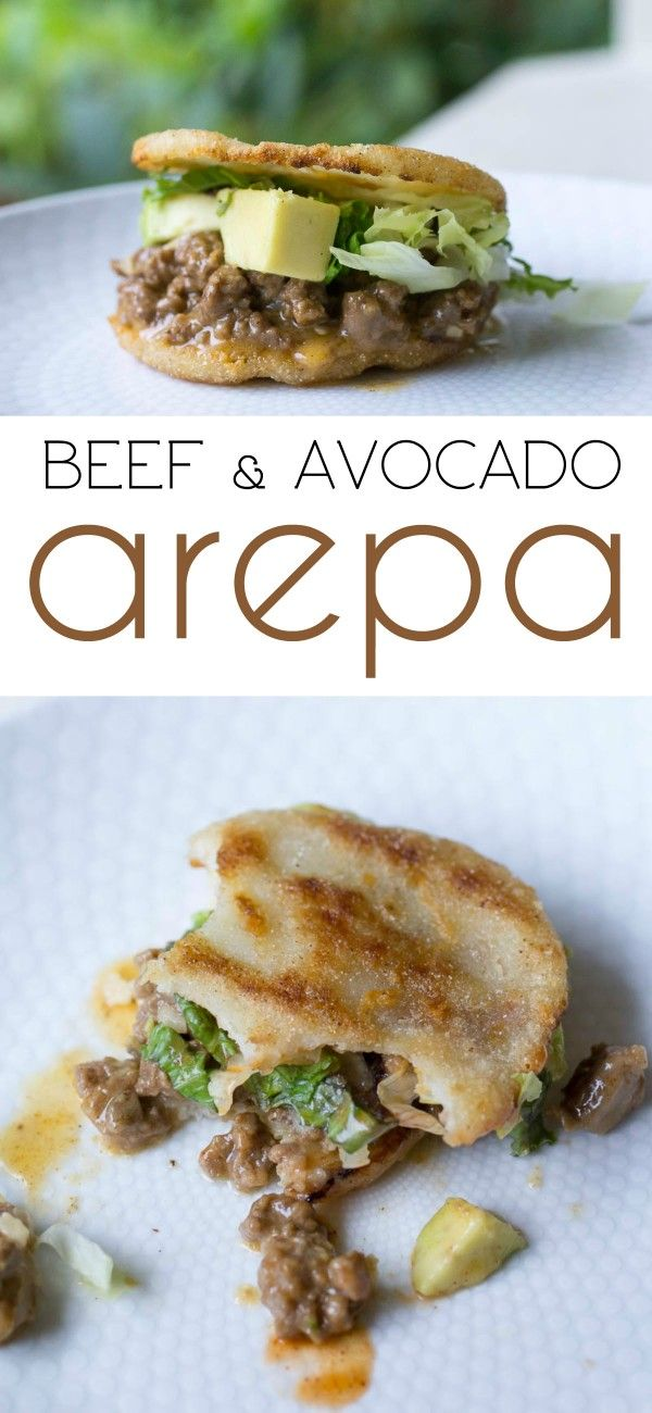 Beef and Avocado Arepa #PanFan #IC (ad)