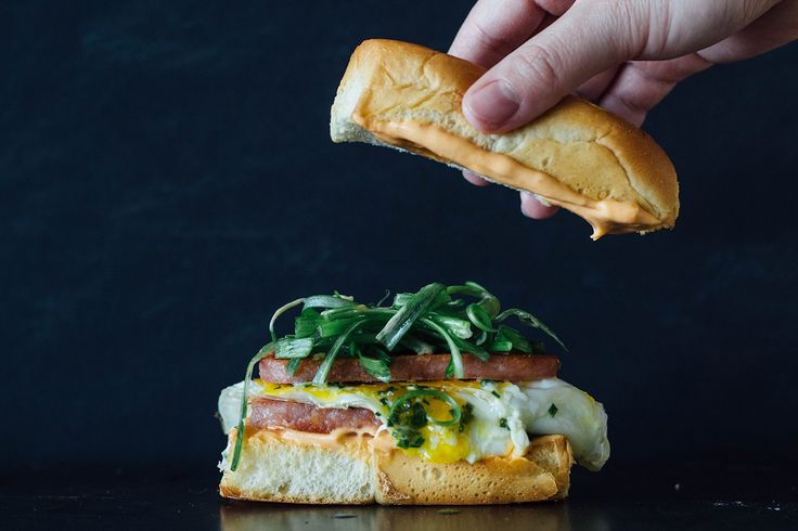 SPAM and eggs breakfast sandwich. Spam is like the lifeblood of Hawaii. It is fried, in fried rice, a popular part of local Hawaiian McDonalds breakfasts, and sitting between layers of…