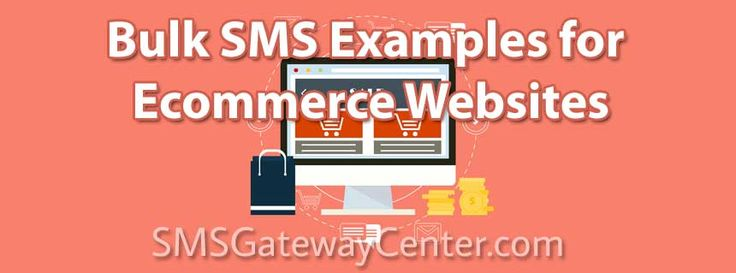 Ecommerce / Shopping Sites SMS Example