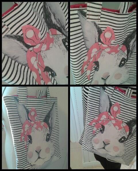 Lapsen Lempi paidasta valmistin kassin.