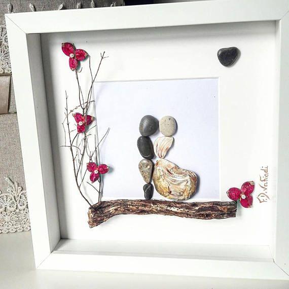https://www.etsy.com/listing/580750085/pebble-art-frame-couple-anniversary-gift  #fdvafiadi