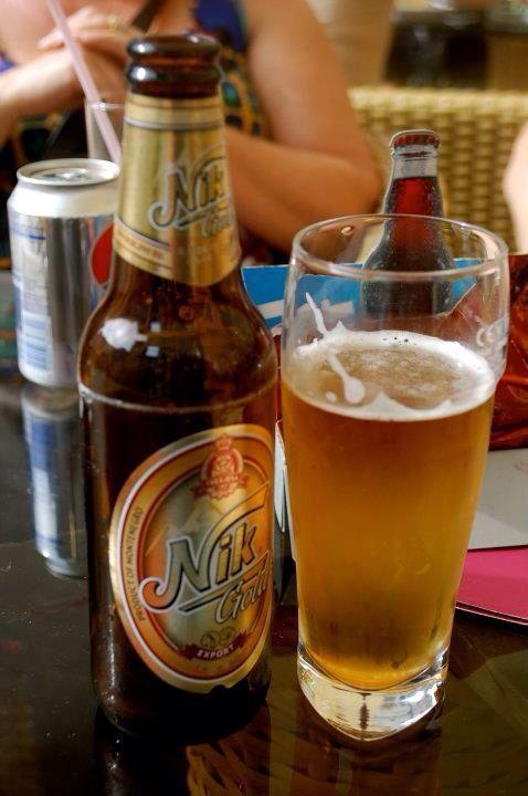 Local beer in Kotor, Montenegro.
