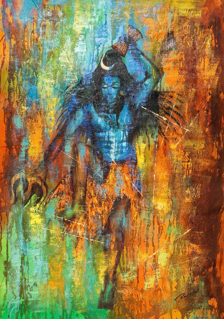 Buy Shiv Tandav by Community Artists Group@ Rs. 7290. Code:ACHVEN01_2436 - Shop Art Paintings online in India.