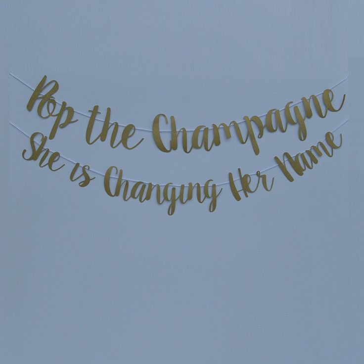 couples bridal shower games free%0A She Is Changing Her Name Banner on Pinterest
