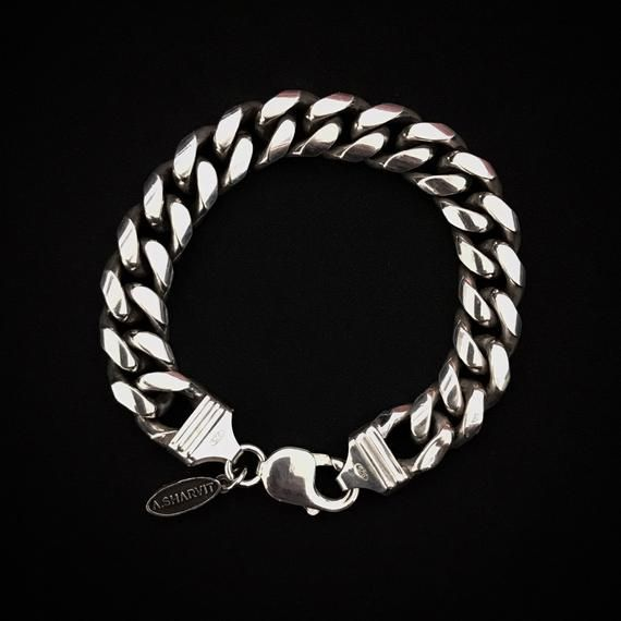 925 Sterling Silver Curb Link Chain Bracelet Chain Bracelet Etsy Chain Link Bracelet Bracelets For Men Link Bracelets