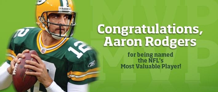 Aaron Rodgers MVP!!!