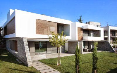 Diseño de dos casas modernas en un sólo terreno, planos y diseño interior | Construye Hogar