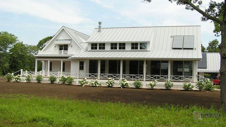 Angled aluminum roof panels