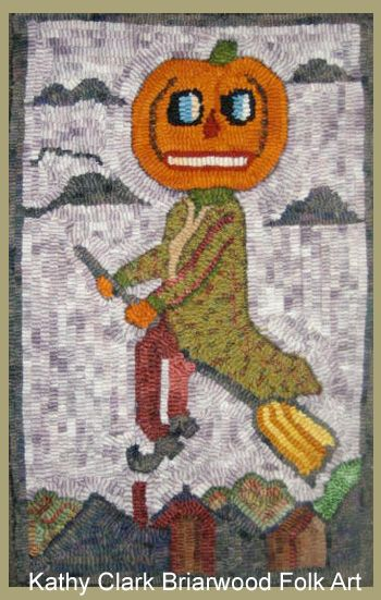 as halloween approaches im reminded of the fun ive had hooking many a halloween rug most of these were created in my early years of hoo - Halloween Rug