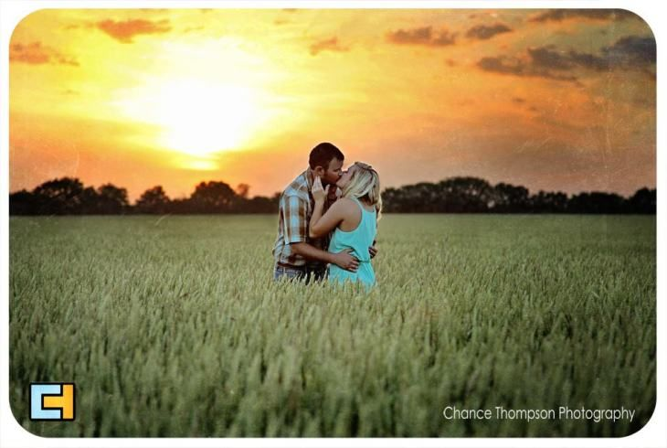 Engagement pictures at sunset, country girl pictures, couples photos, nevada mo