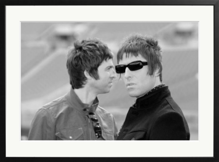 Noel and Liam Gallagher are pictured during a photocall at Wembley Stadium, where they announced their biggest ever tour of open air venues in the UK and Ireland.  Photo by: Samir Hussein  #oasis #liam #noel #gallagher #manchester #london #wembley #samirhussein #brother