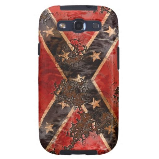 Rebel Flag Grunge Rusted Decay Samsung Galaxy S3 Case