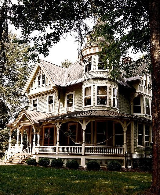 Queen Anne Victorian home. We have a lot of these homes here, but the cost of running these old places is amazing! ~ ♥