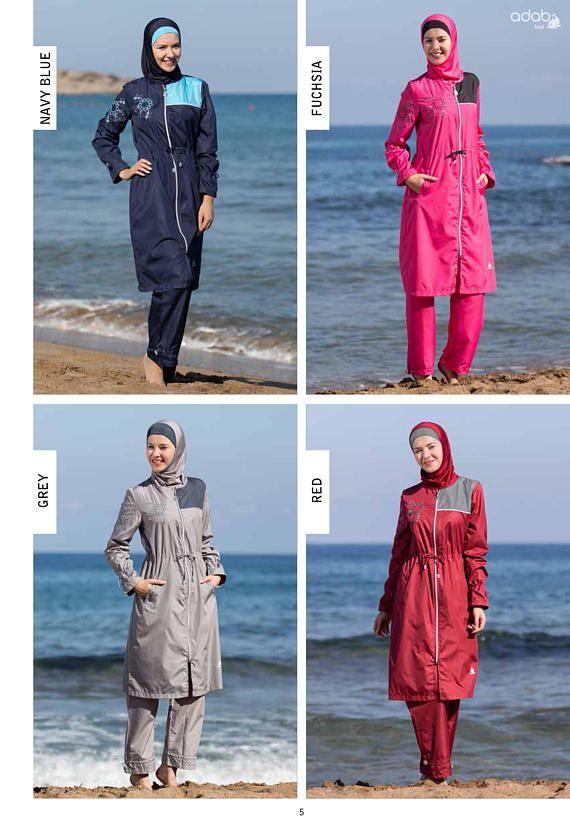 Muslim Damen Islamic Badeanzug Swimwear Burkini Modest Voll Hülle Hindu Bademode