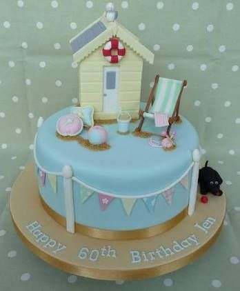 Image result for beach hut cakes