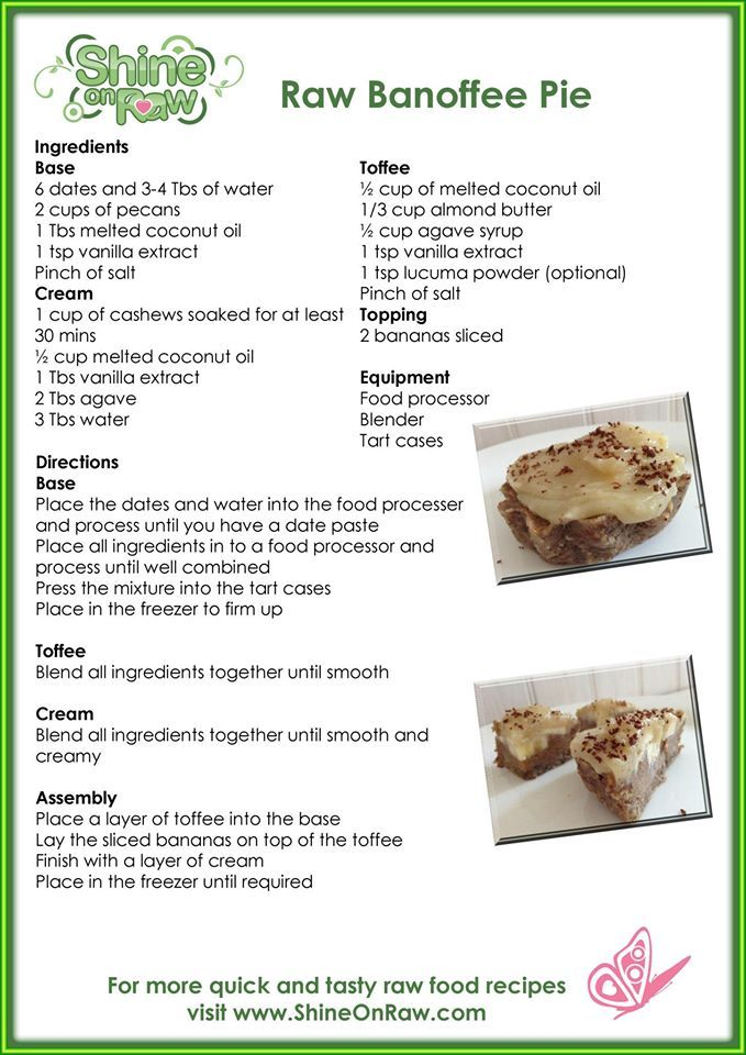 20 Best Raw Food Recipe Cards Images On Pinterest