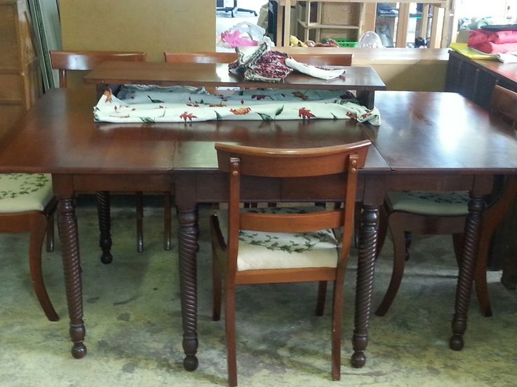 Vintage Willet Wildwood Cherry Gate Leg Dining Table With 6 Chairs And A Leaf These 50 Years