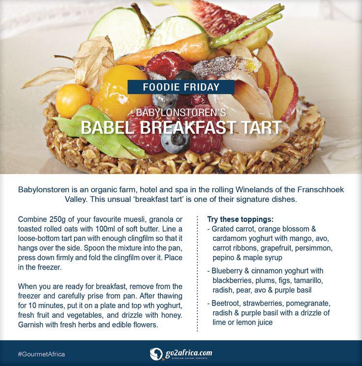 Babylonstoren's Babel Breakfast Tart. #Africa #GourmetAfrica #SouthAfrica #Babylonstoren #breakfast