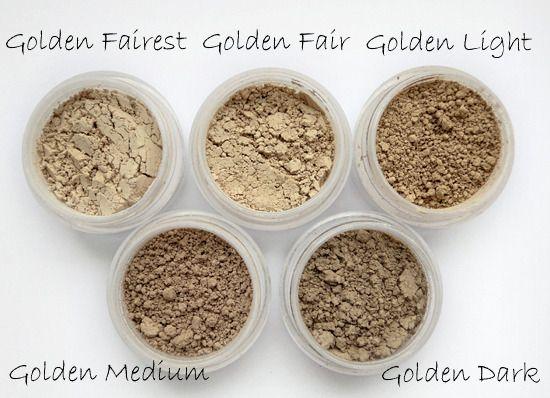 beautyhairandfashion: Annabelle Minerals, swatche podkładów matujących