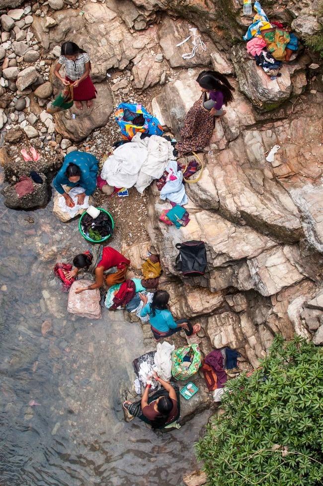 """Asia entry: """"Scrubbing Stream, Phewa Lake, Pokhara, Kaski District, Nepal"""" by Flash Parker"""
