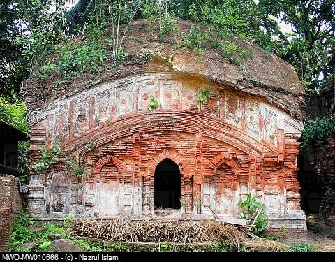 Temple of 'Maa Mansha' Hindu Snake Goddess at Dhanuka village in Shariatpur, Bangladesh June 1, 2007