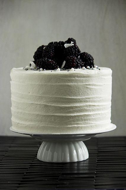 Blackberry Lime Coconut Macadamia Cake