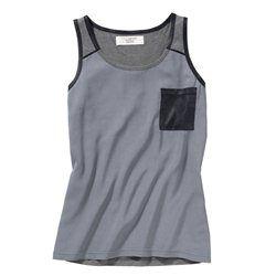 Tee-shirt col rond tissu effet fluide