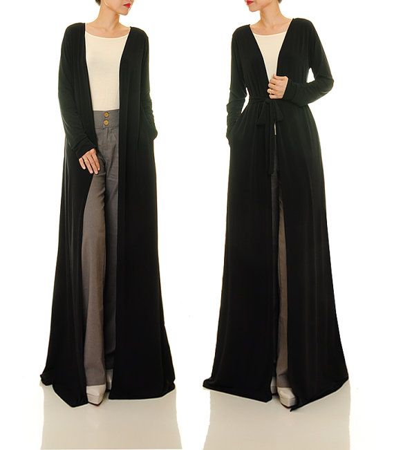 Long Kimono Cardigan / Long Sleeve Cardigan / by Tailored2Modesty ...