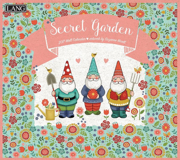 Secret Garden 2017 Wall Calendar , 17991001986 | Lang