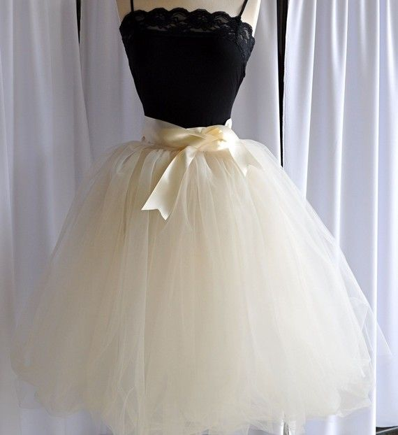 Ivory tulle tutu skirt for women modern day by TutusChicBoutique, $165.00