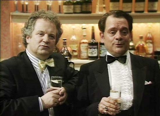 Del Boy with 'Arnie' in a 1989 episode 'Chain Gang'.