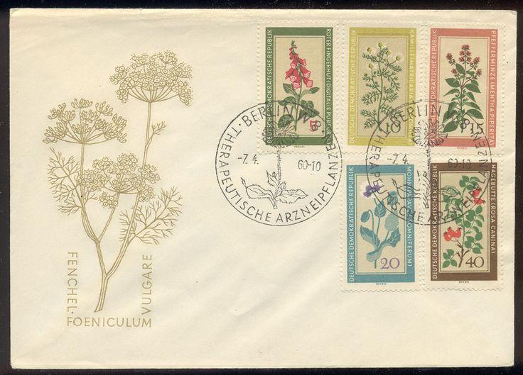 Germany DDR FDC - set of 5 medicinal plants #494-8  Lot #3500