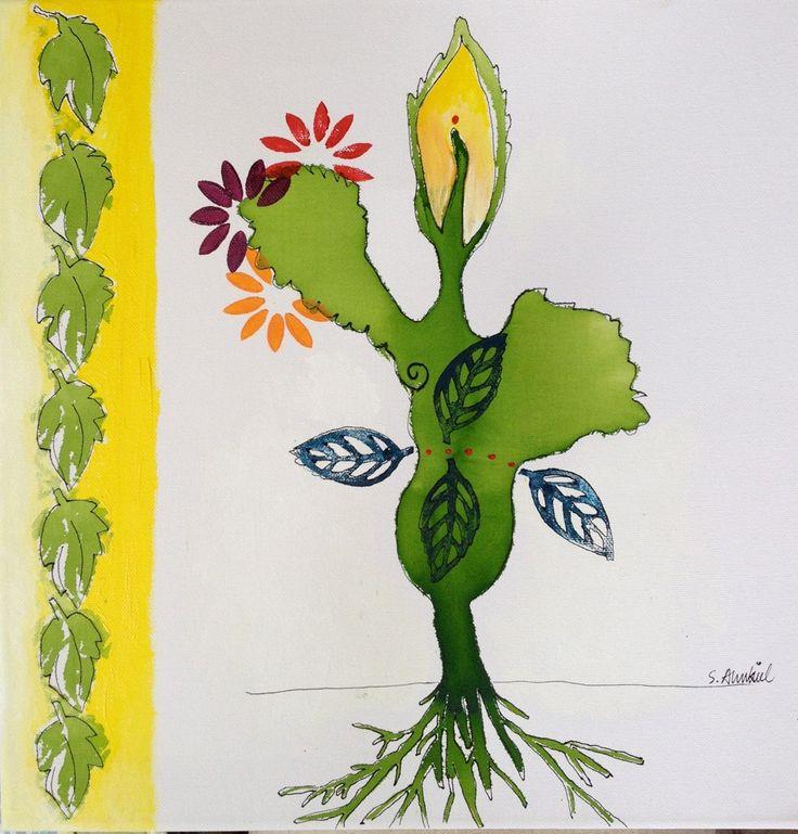 my tree of yoga made by my friende Susanne Arhenkiel