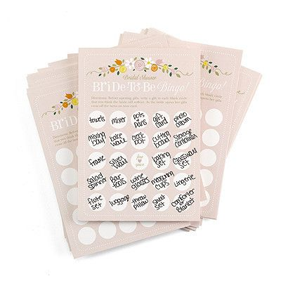 Bridal Shower Bride to Be Bingo - Marry Me Wedding Accessories & Gifts
