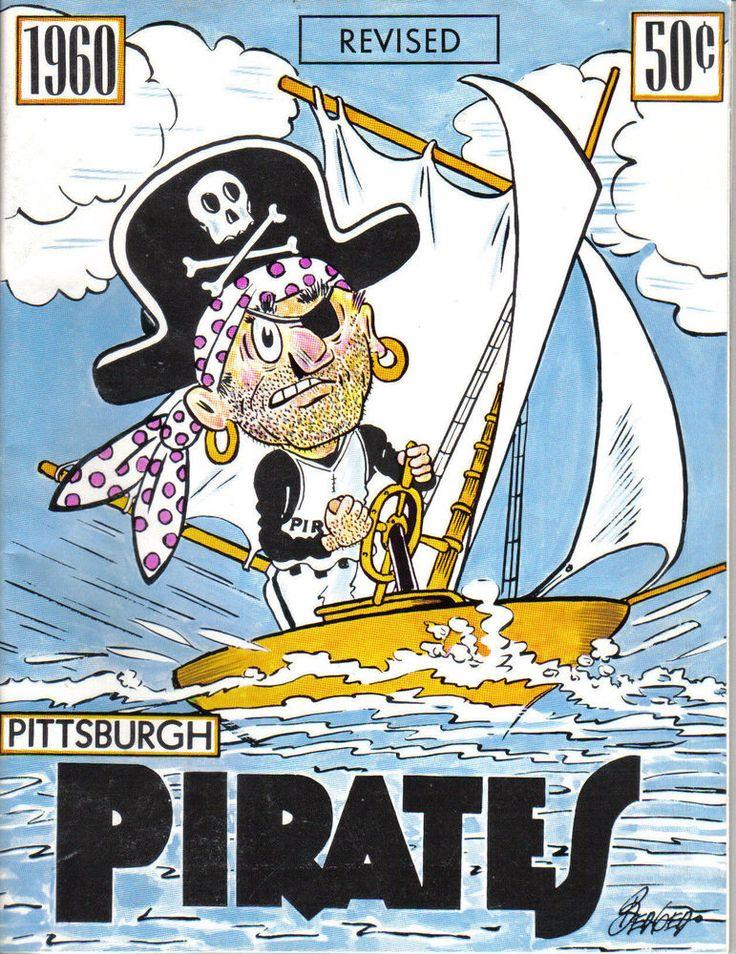 1960  Pittsburgh Pirates Baseball Yearbook, Roberto Clemente, Bill Mazeroski ~VG