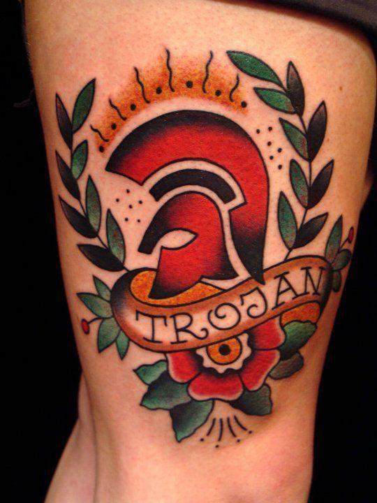 Trojan Reggae Tattoo by King of Kings Tattoo http://www.kingofkingstattoo.nl/