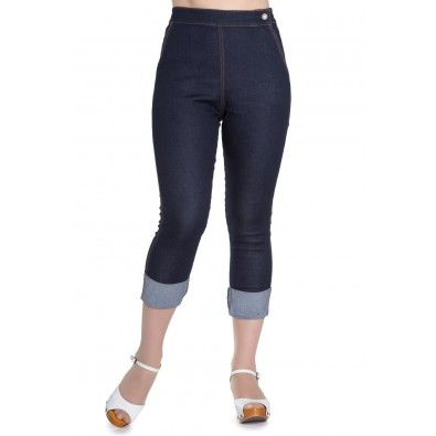 Pantacourt Rockabilly Pin-Up 50's Rétro Jeans Ronnie