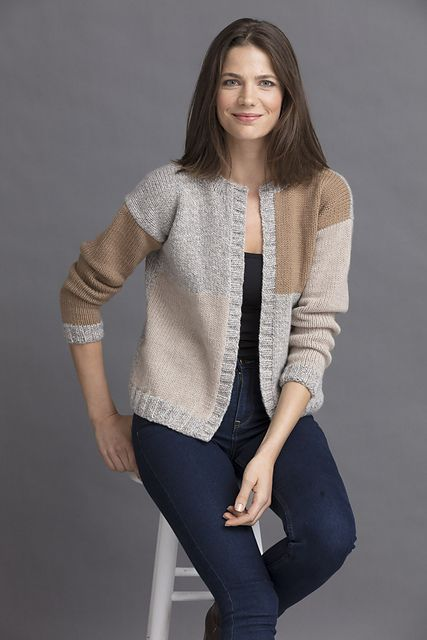 Simple construction and easy colorwork make this cardi a dream to knit up. It's designed so that there's no carrying of colors or lots of ends to weave in.