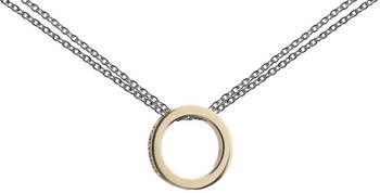 9ct Gold Circle Necklace for charms with double silver chains