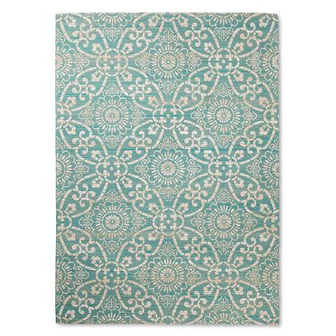 Our new dining room rug || Area Rug Savanna Turquoise 5'X7' - Threshold™