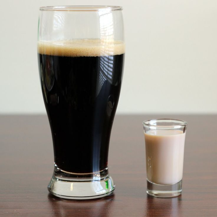 The Irish Car Bomb is kind of the Irish version of a Boilermaker. Instead of dropping whiskey into a beer, you drop a shot of Irish cream and Irish whiskey into a pint of Guinness Stout. Bottoms up!