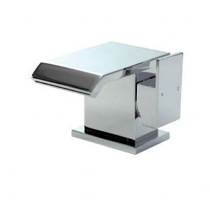 Phoenix QS Series Single Lever Mono Basin Tap With Sprung Waste QS009 Waterfall Tap