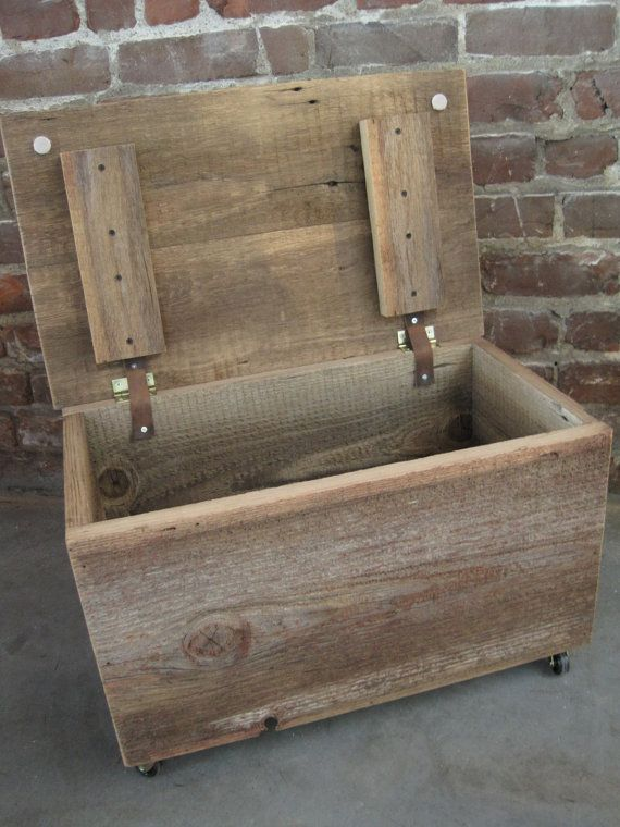 Wood Trunk On Wheels Ottoman Coffee Table Toolbox By Fortressco Wood Trunk Ideas