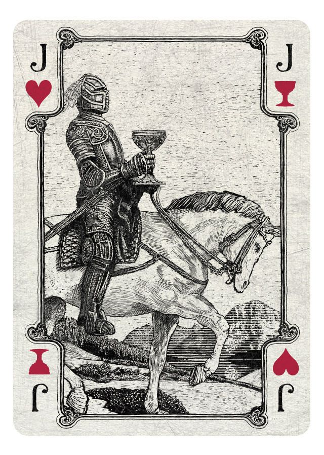 Jack of Hearts/Cups light - If you love Tarot, visit me at www.WhiteRabbitTarot.com