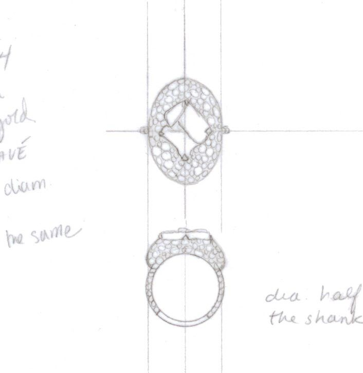 Jewellry sketches by diamond in the rough